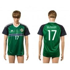 European Cup 2016 Northern Ireland 17 McNair Green home AAA+ soccer jerseys
