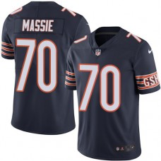 2016 Nike Chicago Bears 70 Bobby Massie Navy Blue Mens Stitched NFL Limited Rush Jersey