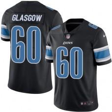 2016 Nike Detroit Lions 60 Graham Glasgow Black Mens Stitched NFL Limited Rush Jersey