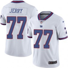 2016 Nike New York Giants 77 John Jerry White Mens Stitched NFL Limited Rush Jersey