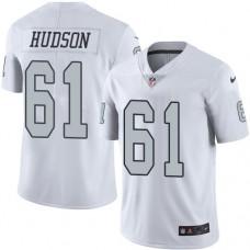 2016 Nike Oakland Raiders 61 Rodney Hudson White Mens Stitched NFL Limited Rush Jersey