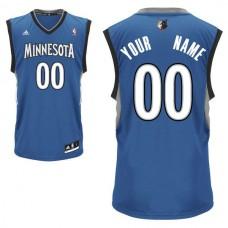 Adidas Minnesota Timberwolves Youth Custom Replica Road Royal NBA Jersey