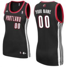 Adidas Portland Trail Blazers Women Custom Replica Road Black NBA Jersey