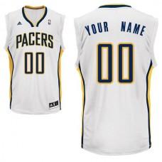 Men Adidas Indiana Pacers Custom Replica Home White NBA Jersey