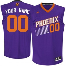 Men Adidas Phoenix Suns Custom Replica Team Purple NBA Jersey