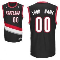 Men Adidas Portland Trail Blazers Custom Replica Road Black NBA Jersey