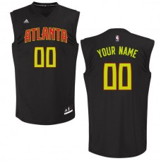 Men Atlanta Hawks Adidas Black Custom Chase NBA Jersey
