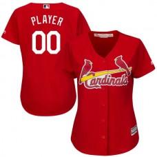 Women St. Louis Cardinals Majestic Red Scarlet Cool Base Alternate MLB Jersey
