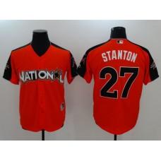 2017 MLB All-Star Miami Marlins 27 Stanton Orange Jerseys