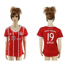 2017-2018 Club Bayern Munich home aaa verion women 19 soccer jersey