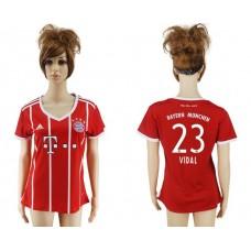 2017-2018 Club Bayern Munich home aaa verion women 23 soccer jersey