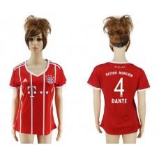 2017-2018 Club Bayern Munich home aaa verion women 4 soccer jersey
