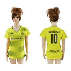 2017-2018 Club Dortmund home aaa verion women 10 soccer jersey