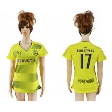 2017-2018 Club Dortmund home aaa verion women 17 soccer jersey