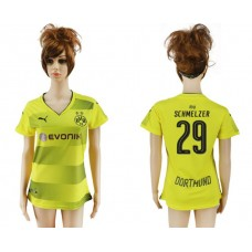 2017-2018 Club Dortmund home aaa verion women 29 soccer jersey