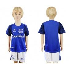2017-2018 club Everton FC home kids soccer jersey
