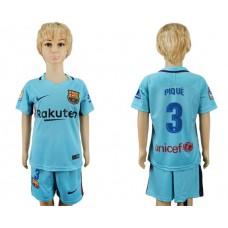 2017-2018 club barcelona aeay kids 3 soccer jersey