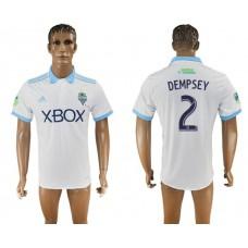 Men 2017-2018 club Seattle Sounders away aaa version 2 white soccer jersey