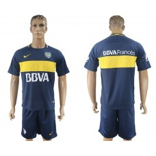 Men 2017-2018 club Boca Juniors home blank blue soccer jersey1