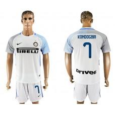 Men 2017-2018 club Inter milan away 7 white soccer jersey1