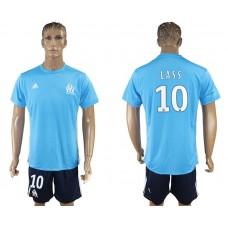Men 2017-2018 club Marseille away 10 blue soccer jersey