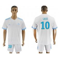 Men 2017-2018 club Marseille home 10 white soccer jersey