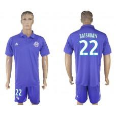 Men 2017-2018 club Marseille second away 22 purple soccer jersey