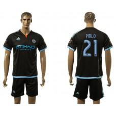 Men 2017-2018 club New York City FC away 21 black soccer jersey