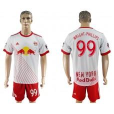 Men 2017-2018 club Red Bulls home 99 white soccer jersey