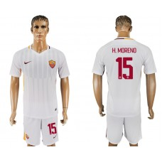 Men 2017-2018 club Rome away 15 white soccer jersey
