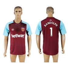 Men 2017-2018 club West ham at home 1 red aaa version soccer jersey