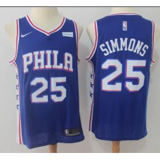 2017 NBA Men Philadelphia 76ers 25 Simmons Blue Nike Jersey