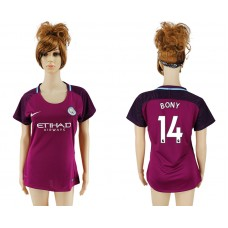 2017-2018 Club manchester city away aaa version women 14 soccer jersey