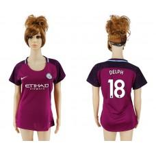 2017-2018 Club manchester city away aaa version women 18 soccer jersey
