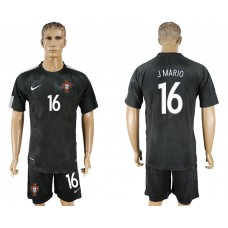Men 2018 World Cup National Portuga away 16 black soccer jersey