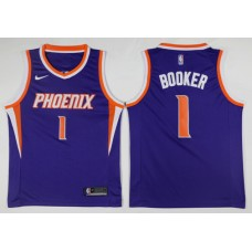 Men Phoenix Suns 1 Booker Blue Game Nike NBA Jerseys