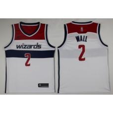 Men Washington Wizards 2 Wall White Game Nike NBA Jerseys