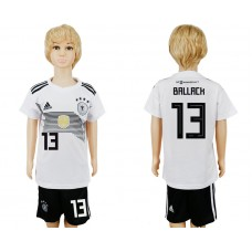 2018 World Cup Germany home kids 13 white soccer jersey