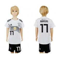 2018 World Cup Germany home kids 17 white soccer jersey