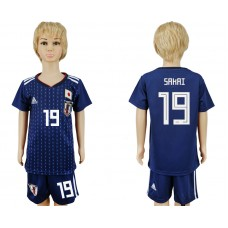 2018 World Cup Japan home kids 19 blue soccer jersey