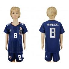 2018 World Cup Japan home kids 8 blue soccer jersey
