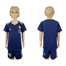 2018 World Cup Japan home kids blank blue soccer jersey