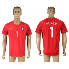 Men 2018 World Cup National Portugal home aaa version 1 red soccer jersey