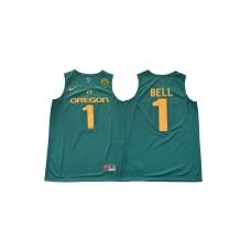 Men Oregon Ducks 1 Bell Green NCAA Jerseys1