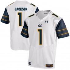Men California Golden Bears 1 DeSean Jackson White Customized NCAA Jerseys
