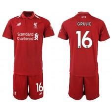 2018-2019 Men club Liverpool home 16 soccer jersey
