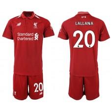 2018-2019 Men club Liverpool home 20 soccer jersey