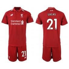 2018-2019 Men club Liverpool home 21 soccer jersey