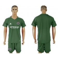 2018-2019 Men club New York City army green goalkeeper soccer jersey