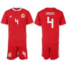 2018-2019 Men nationa Welsh home 4 soccer jersey